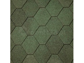 Gont Bitumiczny IKO Superglass Hex -  Amazon Green (03)