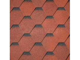 Gont Bitumiczny IKO Superglass Hex -  Tile Red Ultra (20)