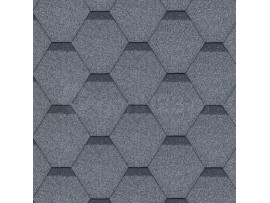 Gont Bitumiczny HEXAGONAL Szary 6826 [MIDA] Standard