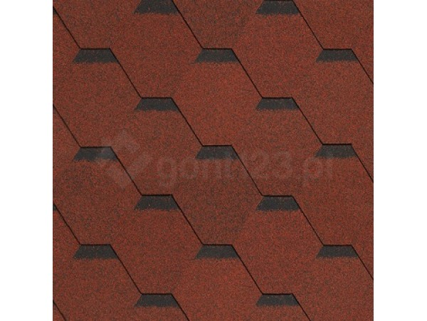 Gont Bitumiczny HEXAGONAL 6822 Czerwony [MIDA] Standard