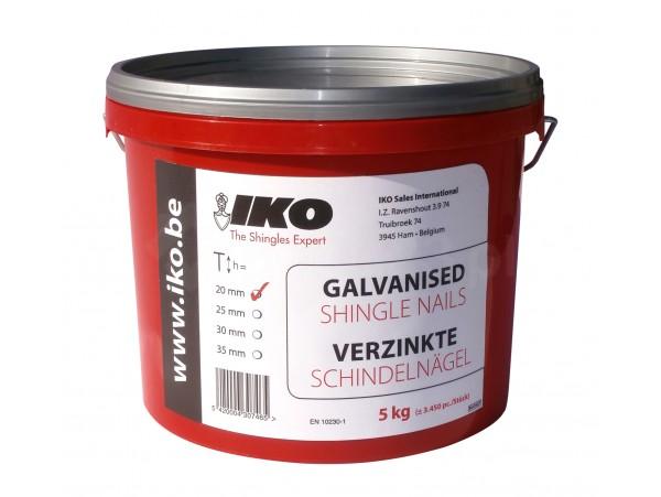 Gwoździe galwanizowane IKO 5 kg [20, 25, 30, 35 mm]